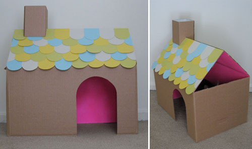My Second Project Is This Cute Little Cardboard Cat House ...